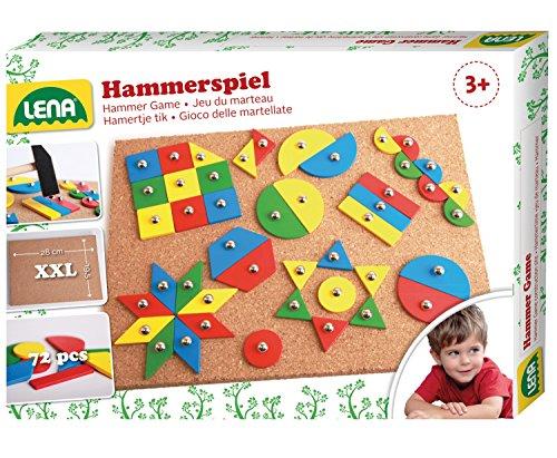 Lena 65827 - Hammerspiel Standard 72 Teile ca. 28 x 19,5 cm