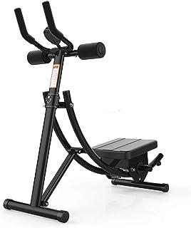 Abdominal Coaster Vertikal AB Trainer Workout Machine Foldbar Abdominal Crunch Fitness Utrustning för Home Gym Black