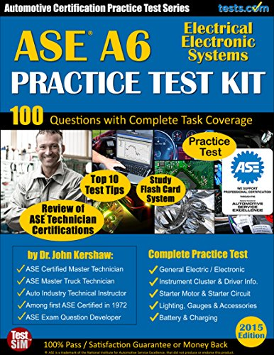 ASE A6 Practice Test Kit - Automotive Certification Practice...