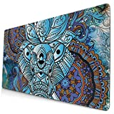 AOOEDM Alfombrilla de ratón Elephant Figure Extended Large Mouse Pad 15.8 X 29.5 in Funny Design Computer Gaming Mouse Mat Desk Non-Slip Rubber Base Mousepad for Office/Home