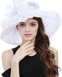 Women's Lace Fascinators Floppy Sun Hat for Kentucky Derby, Royal Ascot, Church, Wedding, Tea Party, Easter
