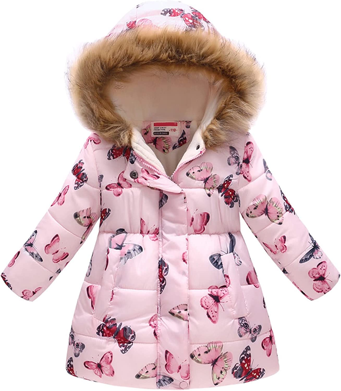 Kids Boy Girl Long Max 58% OFF Beach Mall Floral Print Winter Coat Parka Cotton Hooded Snows