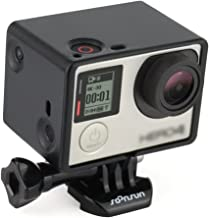 SOONSUN Frame Mount Extension for GoPro Hero 4 3+ 3 with Screen/Battery Extension - Use with LCD BacPac or Battery Extension - Includes Quick Release Buckle and Thumb Screw
