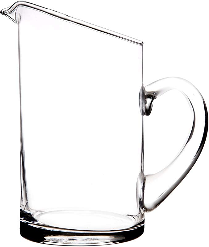Elegant And Durable 32 Oz Modern Clear Glass Pitcher With Easy Pour Spout And Handle