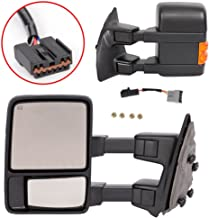Roadstar Upgrade Towing Mirrors for 99-07 Ford F250 F350 F450 F550 Super Duty Tow Mirrors Power Heated with Signal Light Both Driver and Passenger Side Mirrors