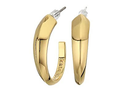 Kate Spade New York Faceted Bar Mini Hoops Earrings (Gold) Earring