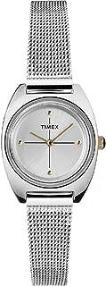 Timex Milano Petite Quartz Movement Silver Dial Ladies Watch TW2T37700