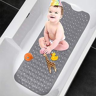 TOPSEAS Alfombra de bañera Antideslizante,Alfombra Banera Antideslizante,Extralargo con 200 Potentes Ventosas,Antibacteria...