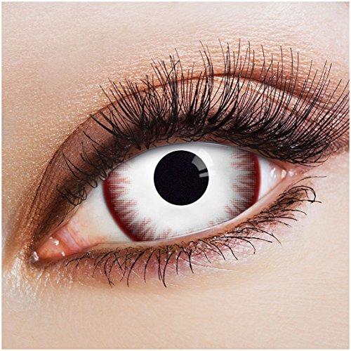ARICONA Kontaktlinsen: Weiße Sclera Kontaktlinsen Jahreslinsen mit 17mm - 2er Set