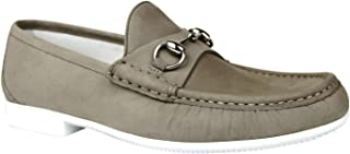Gucci Men's Moccasin Suede Horsebit Loafer 337060 BHO00