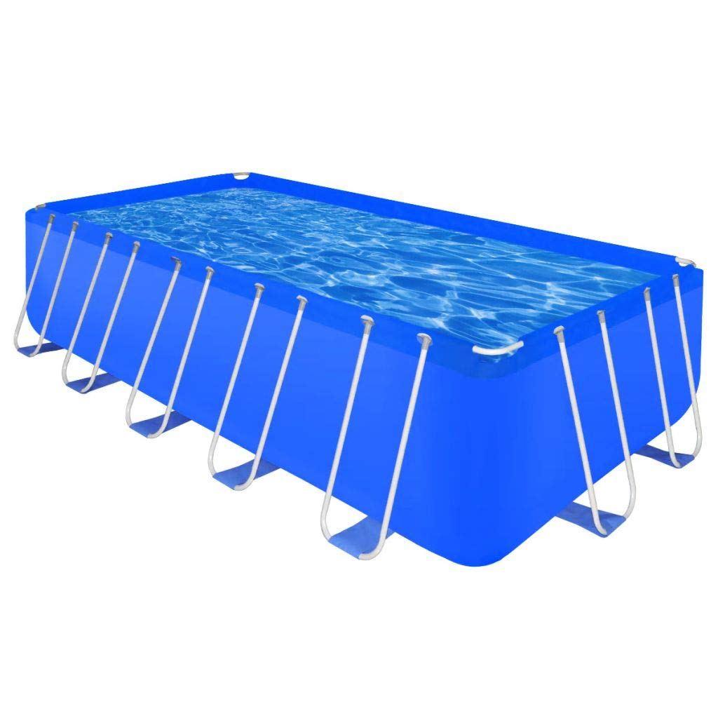vidaXL Piscina Rectangular Desmontable 540x270x122 cm Jardín Patio ...