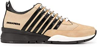Luxury Fashion | Dsquared2 Men SNM010111702720M1797 Beige Leather Sneakers | Spring-summer 20