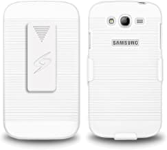 Amzer AMZ95514 Shellster Combo with Hard Shell Holster and Case Cover for Samsung Galaxy Grand i9080/82 - Retail Packaging - White