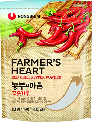 Nong Shim Pimiento Rojo En Polvo para Kimchi, 500 Gramoss