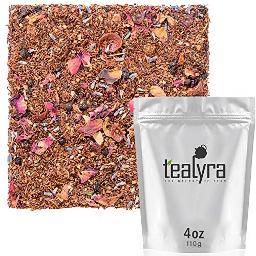 Tealyra - Rooibos Roman Province - Red Bush - Lavender and Blueberries - Herbal Loose leaf Tea - Caffeine-Free - Relaxing Tea - All Natural - 110g (4-ounce)