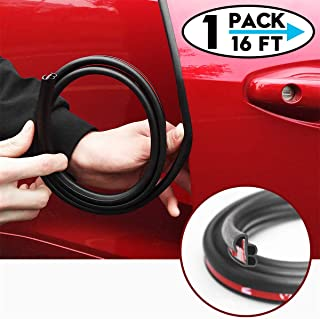 CloudBuyer Self Adhesive Automotive Rubber Weather Draft Seal Strip Weatherstrip for Car Window Door Soundproofing Engine Cover (Upgrade B 16ft)