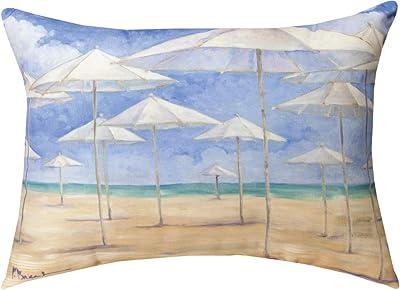 Manual Woodworkers SHBBWU Blanco Beach Umbrella Rectangle dye Throw Pillow, 18 x 13 inch, Multicolor
