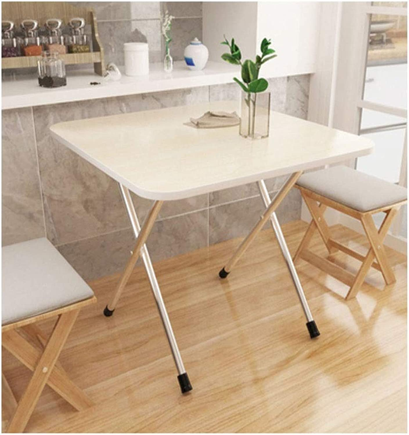 Tables and Chairs, Folding Tables and Chairs, Small Simple, Portable Folding Table, Can Be Used Indoors and Outdoors (color   White, Size   60m60cm50cm)