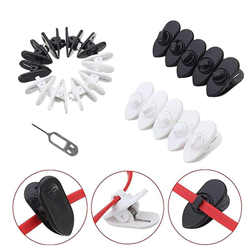 Clips, Rotate Mount Cable Clothing Clip Shirt Clips for Wire Headphones Clothing Clip, Headphone Earphone & Headset Cable with Niddle,18 PCS