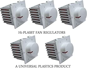 Hi-PLASST (5PCS) Step Type Modular Fan Regulator (5 Step) (Socket Modular) (White) (L*B=5cm*4.7cm)