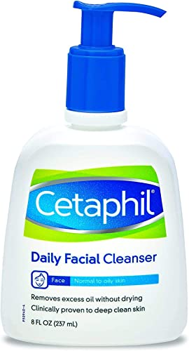 Cetaphil Daily Facial Cleanser for Normal to Oily Skin, 8 Ounce