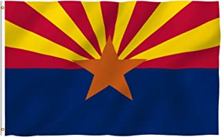 Best Anley Fly Breeze 3x5 Foot Arizona State Polyester Flag - Vivid Color and Fade Proof - Canvas Header and Double Stitched - Arizona AZ State Flags with Brass Grommets 3 X 5 Ft Review