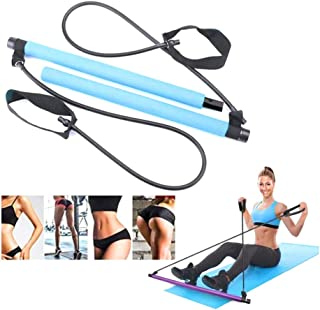 Fitina Blue Portable Pilates Yoga Fitness Resistance Band Bar Kit for Women and Men Exercise, Workout Equipment for Home o...