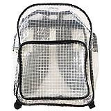 GJTr エンジニアバッグ 帯電 防止 透明 バッグ クリーンルーム 大型 リュック 蛍光帯なし