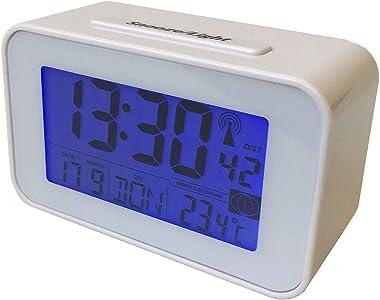 Montre radio-commandée Horloge mural et Horloge de table avec Thermomètre Radio réveil Réveil (wand2)