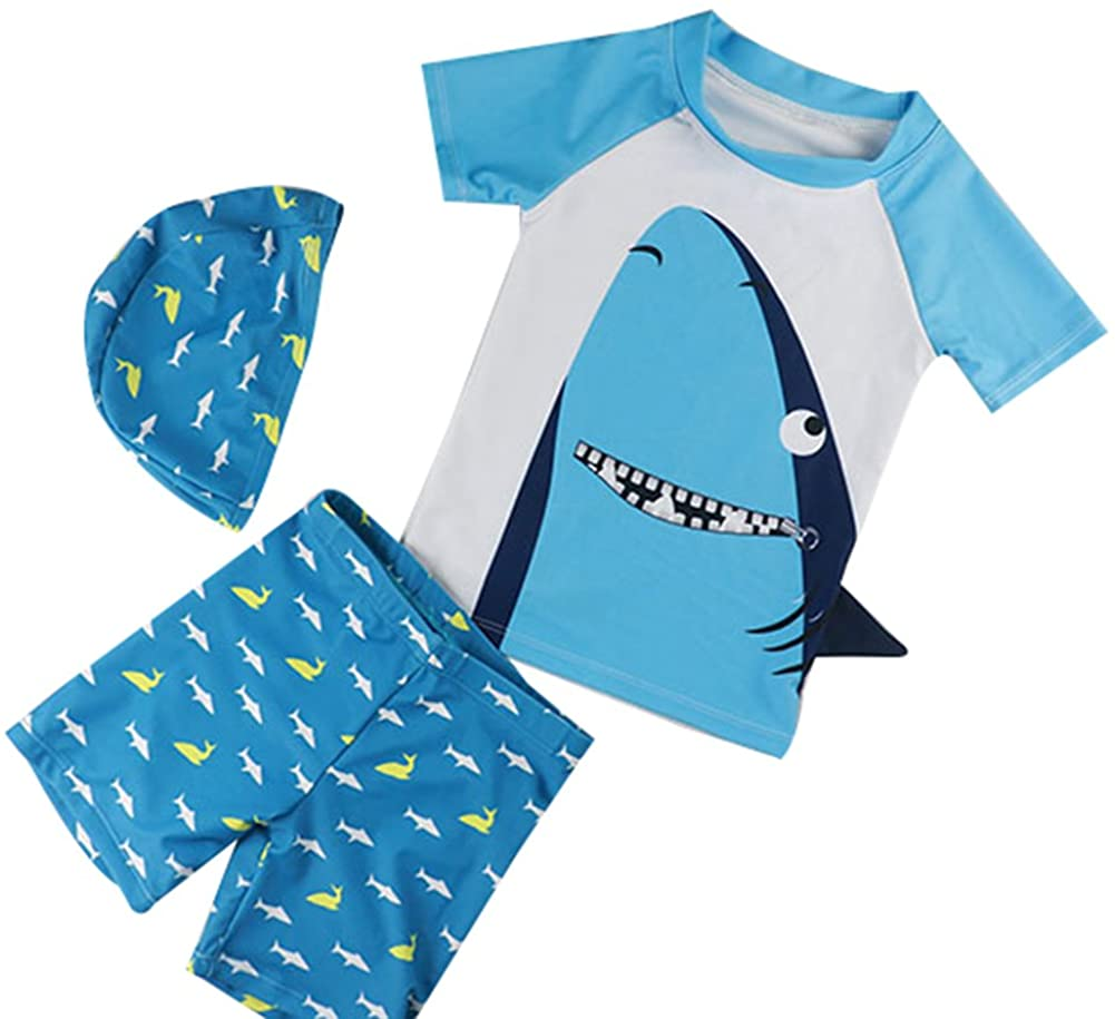 Baby Boy Swimsuit OFFicial mail order 2021new shipping free Two Piece Rash Swimwe Pattern with Shark Guard