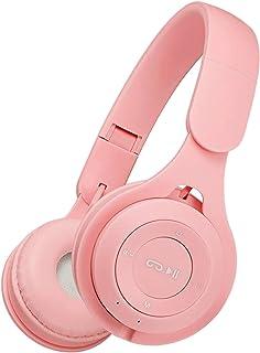 KESOTO Fone de Ouvido Sem Fio Bluetooth Sobre Orelha Protetores de Ouvido Macios para Telefone PC - Rosa