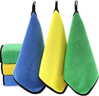 Microfiber Cleaning Cloth 800 GSM, Extra Thick Microfiber Towel Absorbent Dust Cloths Lint Free Cloth for Car Kitchen Wind...
