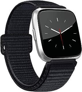 AK Bands Compatible with Fitbit Versa/Versa Lite/Versa SE/Versa 2, Soft Replacement Wristband Sport Loop with Fastener Adjustable Closure for Fitbit Versa Women Men