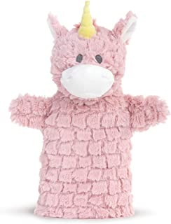 DEMDACO Sparkles The Unicorn Soft Pink 12 inch Polyester Fabric Stuffed Plush Puppet
