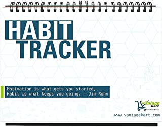 Vantagekart Habit Tracker Daily, Weekly and Monthly Planner (undated), Fits Perfectly at Office Desk, New Year Planner Cor...