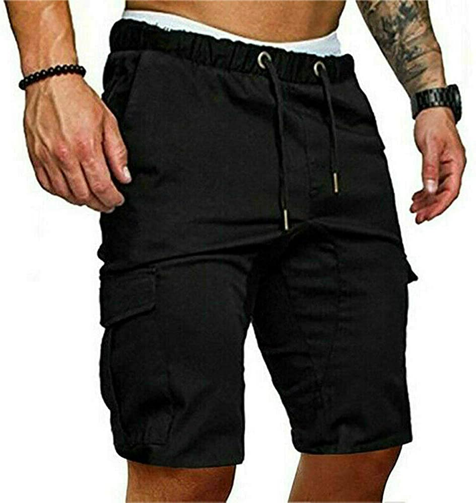 lexiart Mens Gym Workout Shorts Athletic Running Short Solid Color Training Pants