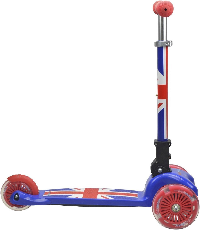 conveniente KIDDIMOTO- Union Jack U-Zoom Scooter mit mit mit LED-Ruedan, Color Rojo Azul (ZMA1)  Nuevos productos de artículos novedosos.