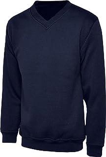 Only Global Boys Girls Unisex Jumper Sweatshirt V Neck School Uniform Ages 1-14 New