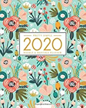 Pretty Simple Planners Weekly and Monthly Planner and Organizer: Calendar Schedule + Agenda | Inspirational Quotes | Floral Mint Cover (2020 Planner)