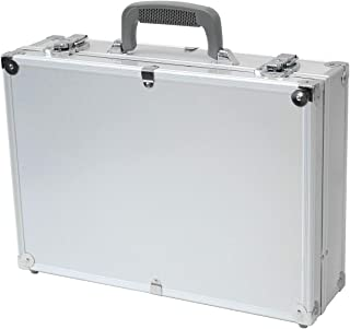 "T.Z. Case 17"" Hard-Sided Laptop Case, Aluminum Briefcase, Attache Case in Silver"