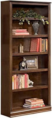 Benjara 75 Inch Transitional Wooden Bookcase with 6 Open Shelves, Brown