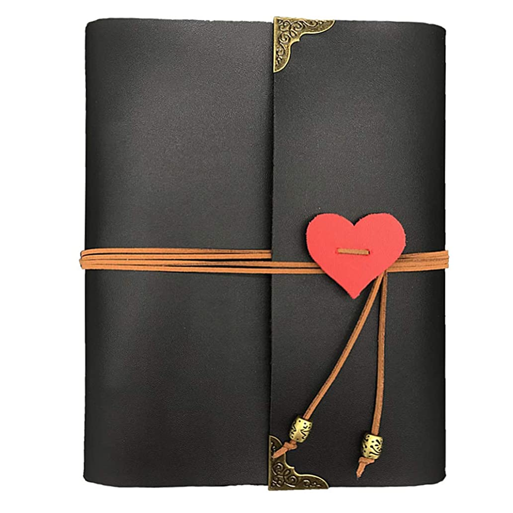 GLIN Photo Album, Leather Photo Scrapbook Memory Book Hand Made DIY Albums with 36 Sheets cxb5006478