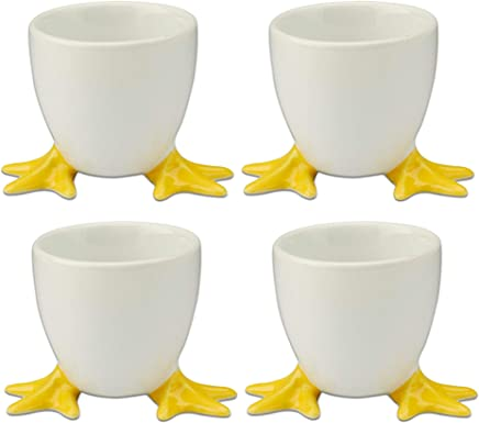 KitchenCraft Colourworks Set of 4 Silicone Egg Cups