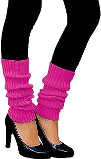 Oblique Unique Oblique Unique Sexy Damen Bein Stulpen Neon Strümpfe für 80er Jahre 80s Motto Party Fasching Karneval Tanzen Aerobic Kostüm Accessoires - Farbe wählbar Neonpink