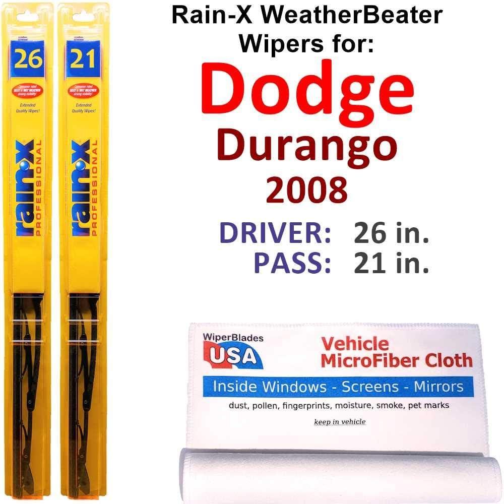 Rain-X WeatherBeater Wiper Blades for Dodge Beauty products Set Rai Durango 2008 Max 80% OFF