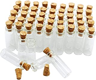 50pcs 1ml Small Mini Glass Bottles Jars with Cork Stoppers/Message Weddings Wish Jewelry Party Favors/ - Size: Small Mini Glass Bottles Jars with Cork Stoppers/Message Weddings Wish Jewelry Party F