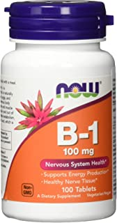 Now Supplements, Vitamin B-1 100 mg, 100 Tablets