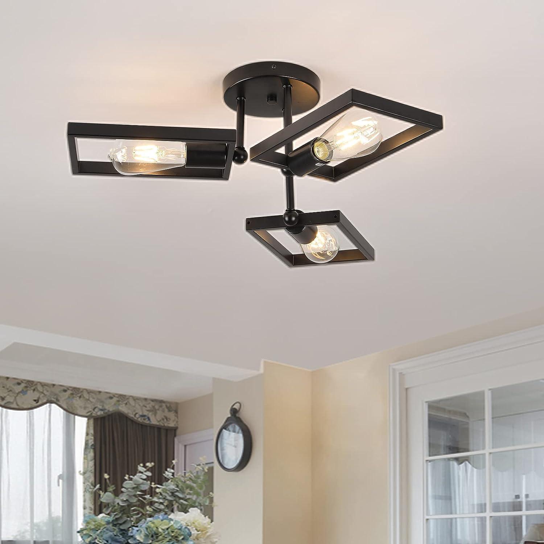 Semi Flush Mount Ceiling Light 3-Light Modern Sputnik Popular standard Ch Fixture 5 ☆ very popular