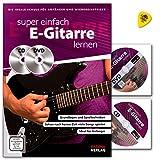 Aprendizaje de guitarra eléctrica muy sencillo, la escuela ideal para principiantes y principiantes, libro de aprendizaje con CD, DVD y Dunlop Plek.