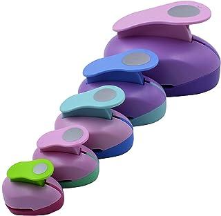CINY 5 pcs Circle Shaper Punch Set Dispositif de Gaufrage Rond, 3 pouces 2 pouces 1 pouce - Poinçons en Papier Pour Scrapb...